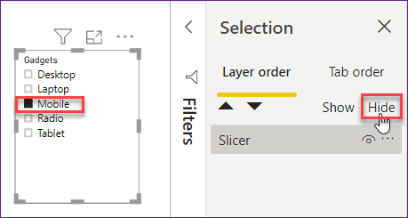 how to bookmark a page in Power bi