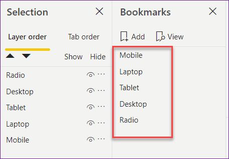how to create a bookmark in power bi desktop