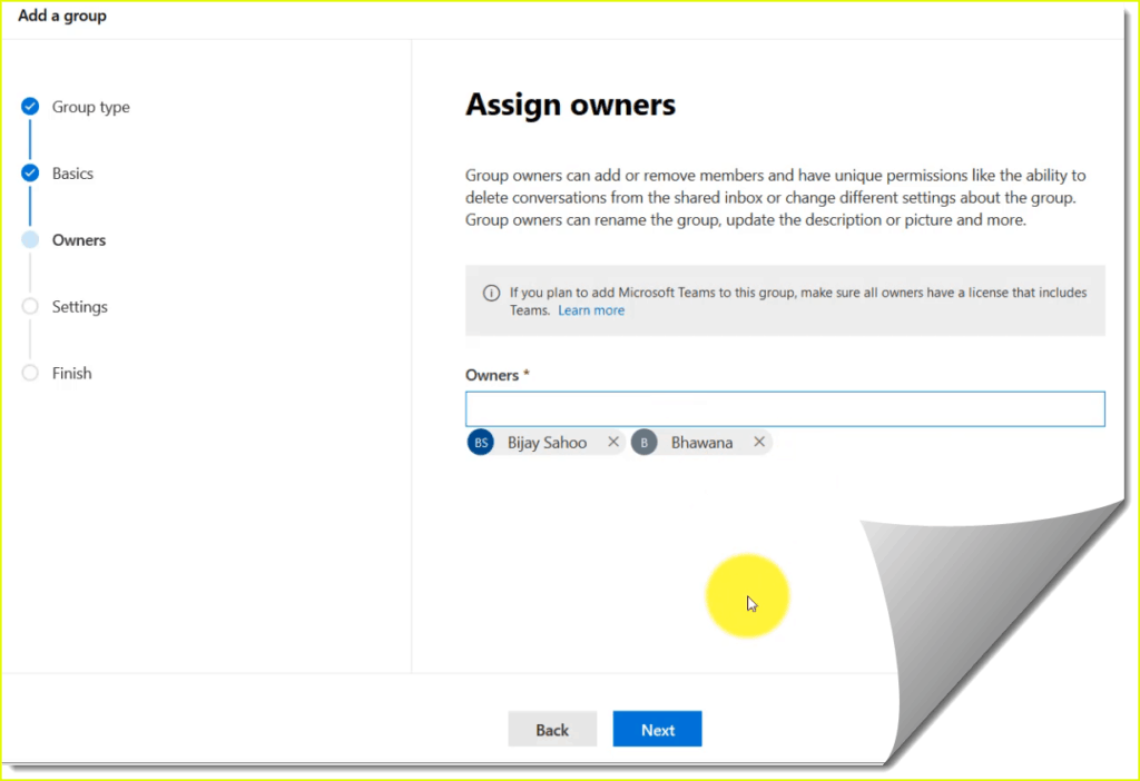 how to assign owners in office 365 groups