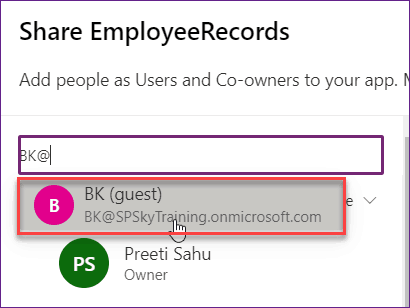 how to share powerapps with guest users