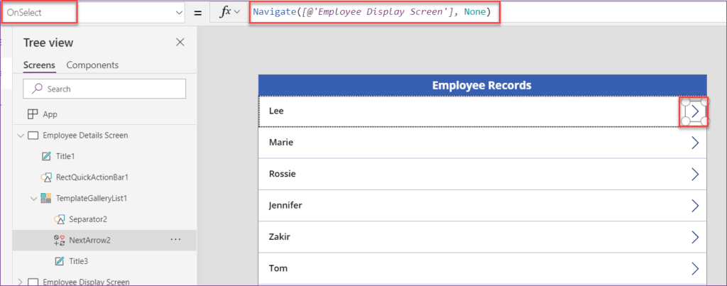 power apps edit form item