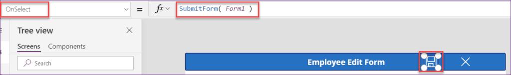 powerapps edit form item properties