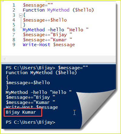 powershell global variable
