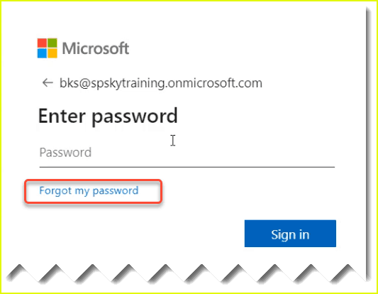 enable self-service password reset office 365