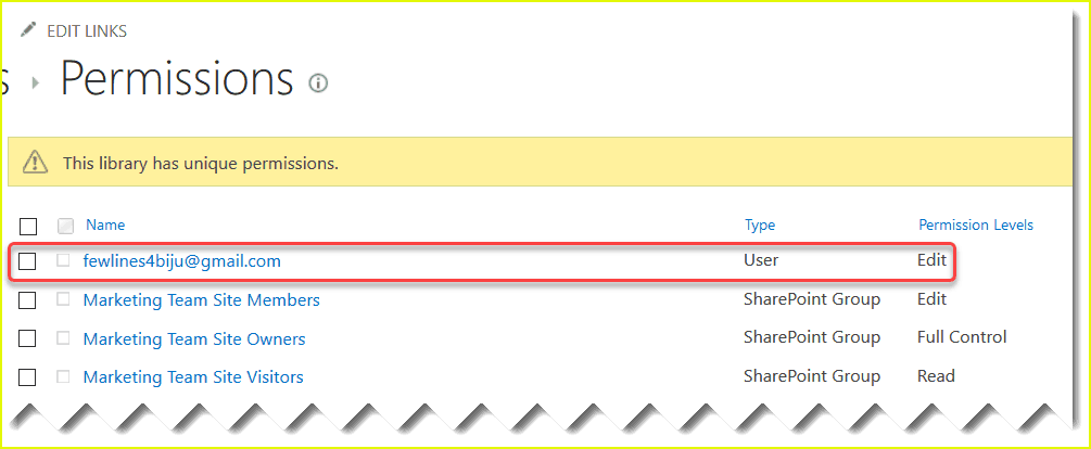 share sharepoint document library with external users
