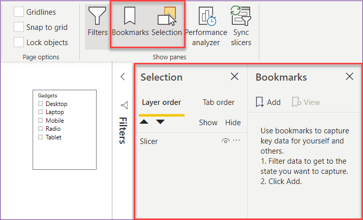 what is bookmark in Power BI