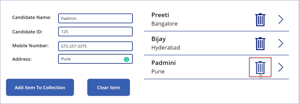 powerapps remove first item from collection