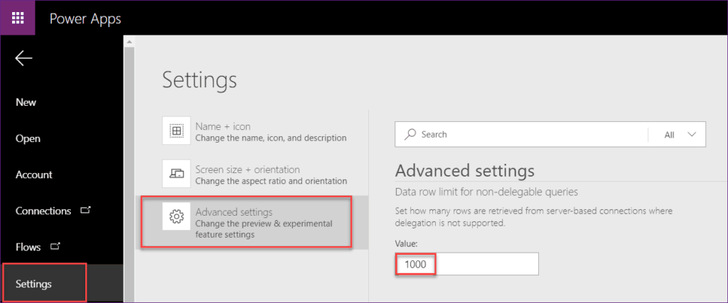 PowerApps Collection Items Limit