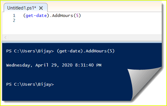 PowerShell get-date add hours