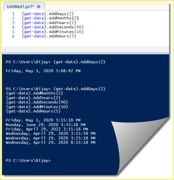 PowerShell get-date adddays or AddMonths example