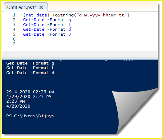 PowerShell get-date format examples