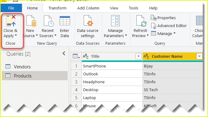 change data type of a column in power bi