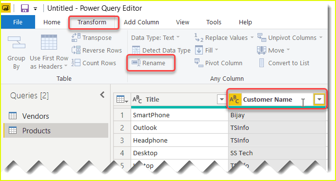 rename column in power bi