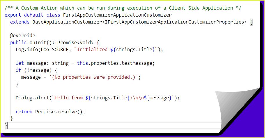 spfx extensions samples