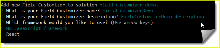 Build your first Field Customizer
