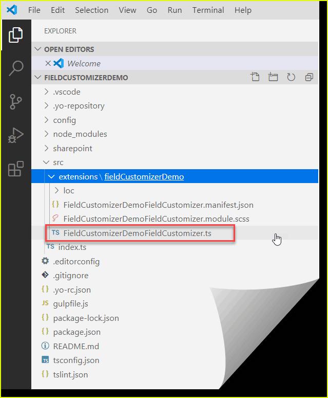 Create SPFx Field Customizer Extension