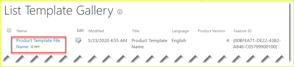 Save list as template in SharePoint 2019