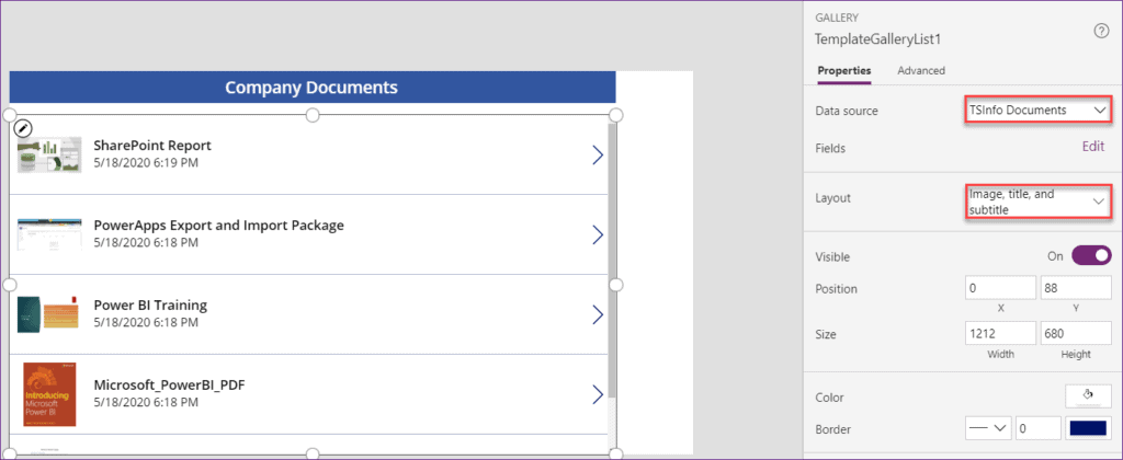 Use a List Screen in Power Apps