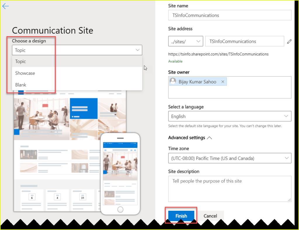 create communication site using pnp powershell