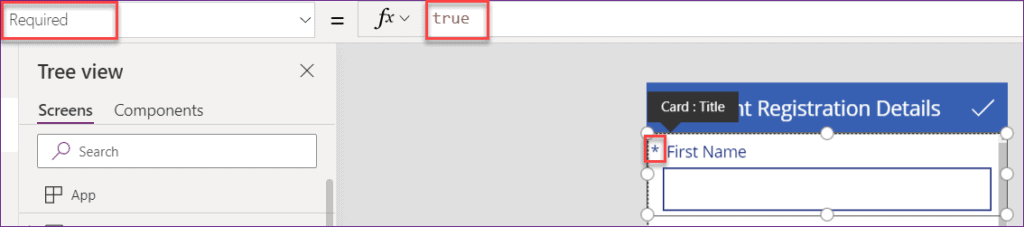 powerapps mandatory field validation