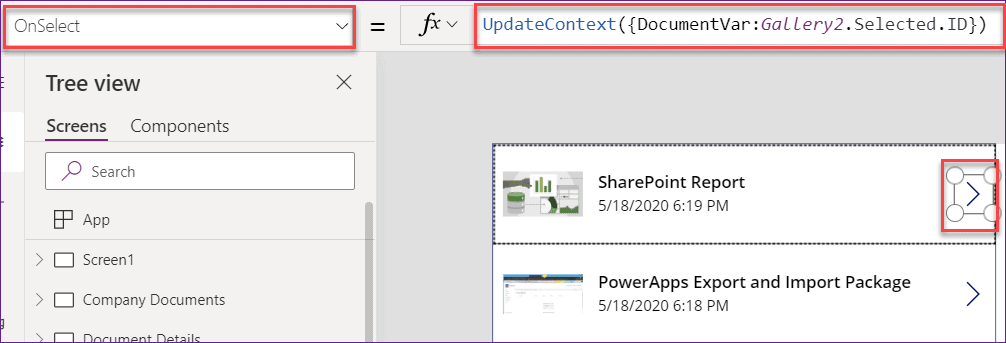 gallery control in power apps
