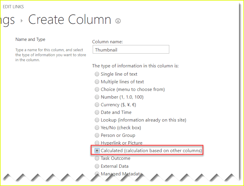 how to Add thumbnail column in SharePoint online document library