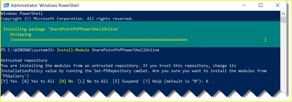 connect SharePoint Online using PnP PowerShell
