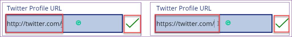 power apps URL Validation