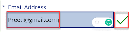 Powerapps email field validation