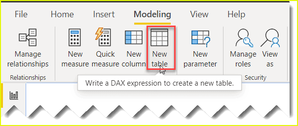power bi dax calculated table