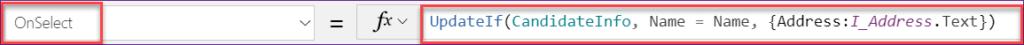 powerapps UpdateIf function