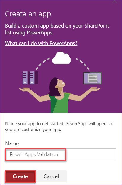 powerapps required field validation