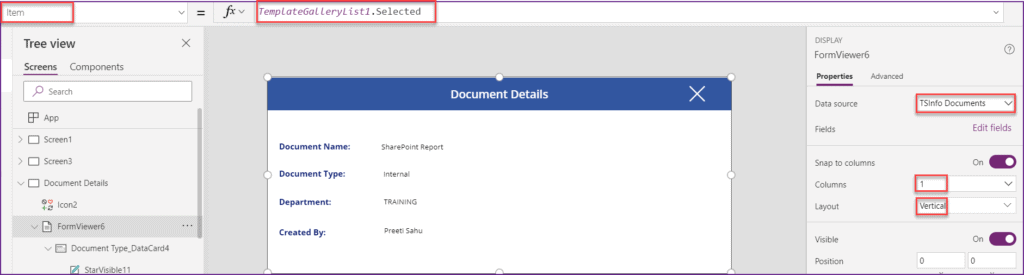 powerapps gallery sharepoint library