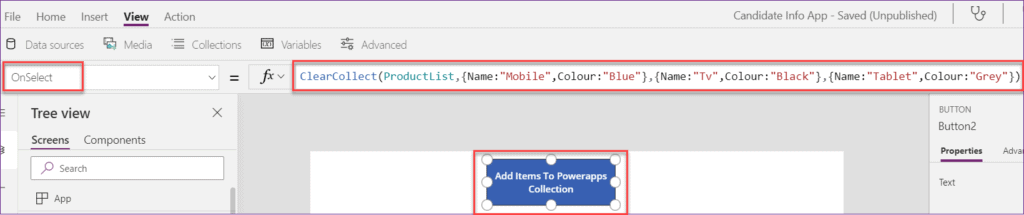 powerapps patch collection