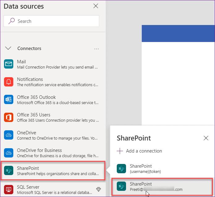 powerapps chart sharepoint list