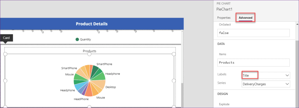 charts in powerapps