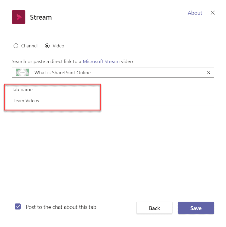 How to add stream in microsoft teams group