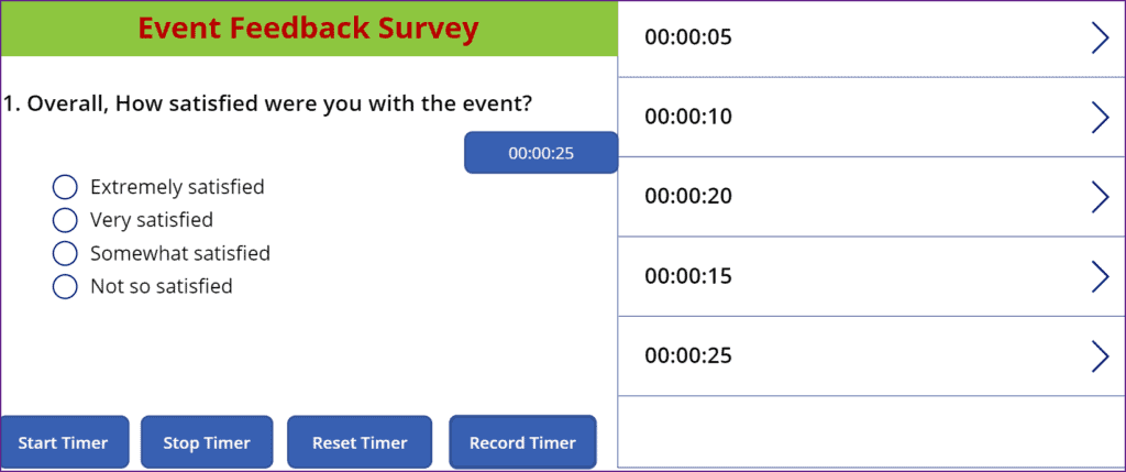 powerapps pause timer