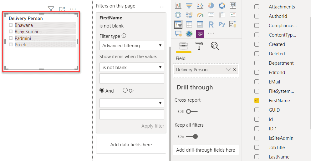 Remove the Blank from Power BI Slicer
