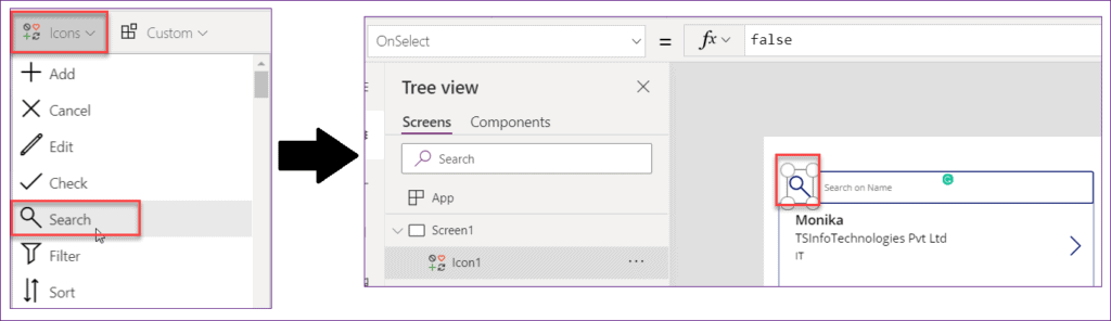 powerapps search function syntax