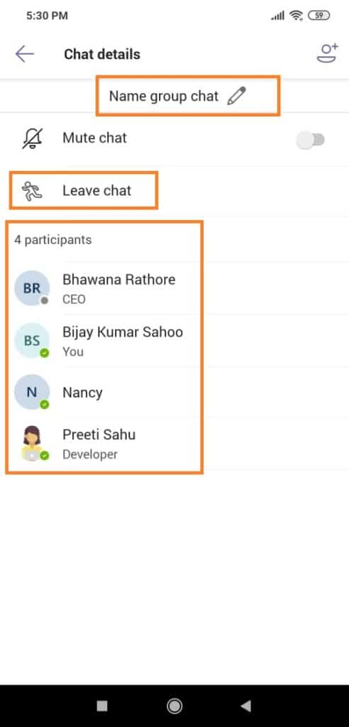 create a group chat in microsoft teams app