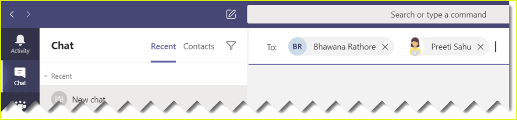 how to create a group chat in microsoft teams app