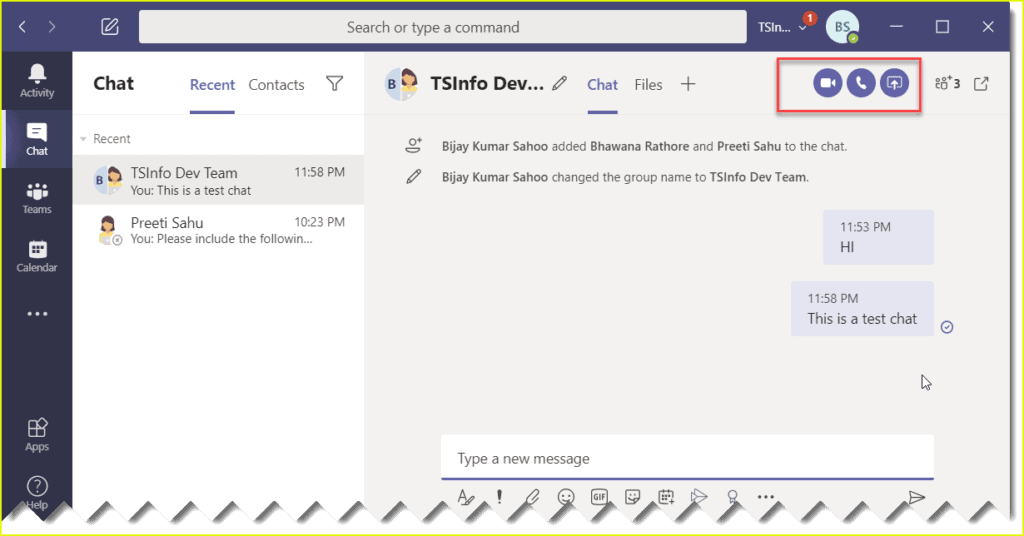 how to create a new group call in microsoft teams