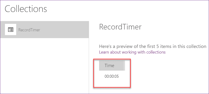 powerapps timer control reset