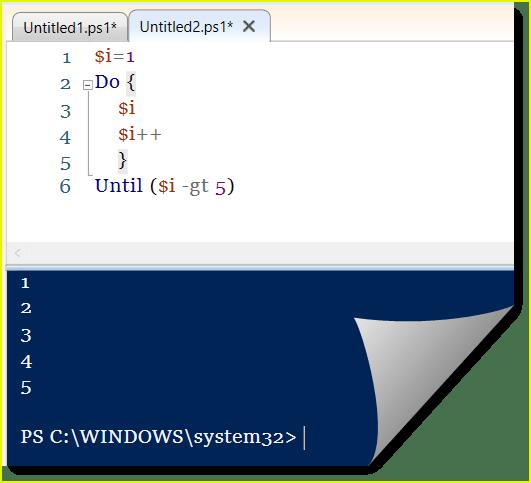 powershell loop array do-until loop