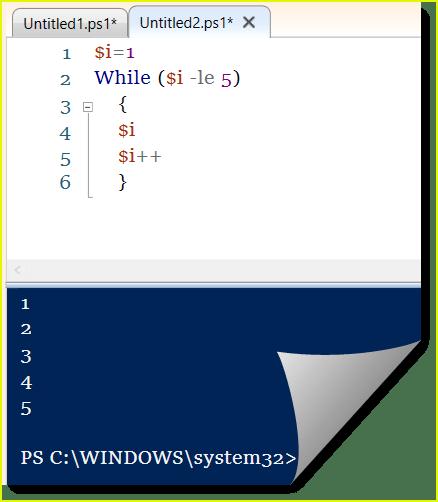 powershell loop array while loop