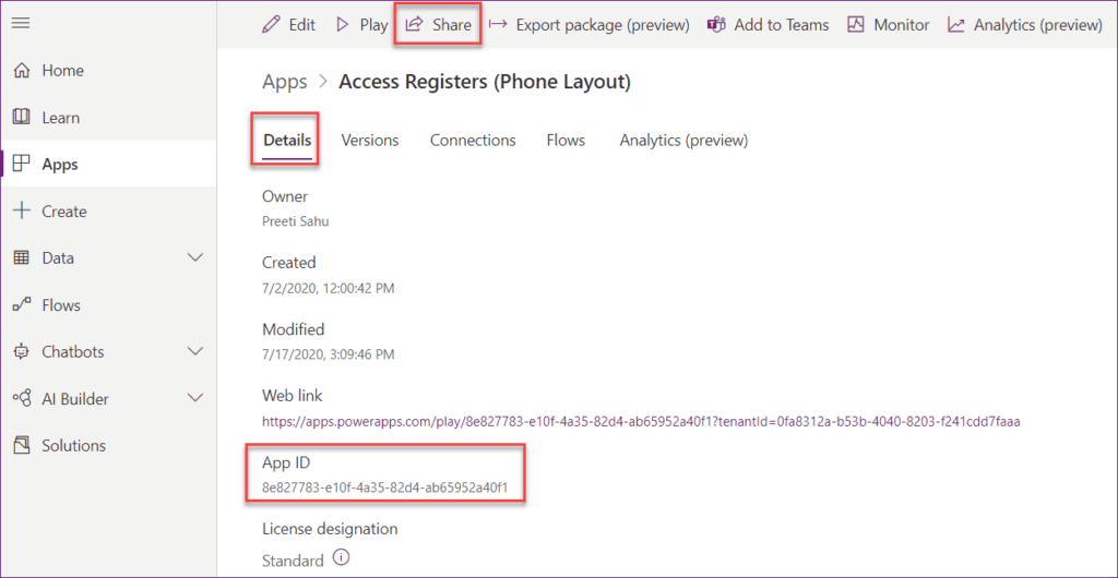 Embed PowerApps on SharePoint Pages