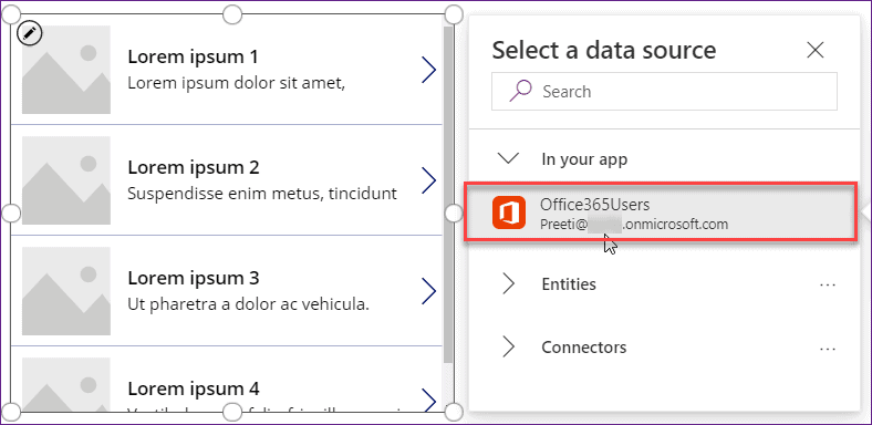 Microsoft PowerApps Employee Directory