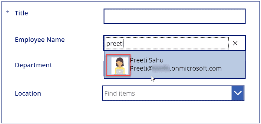 Remove Picture From People Picker Field in powerapps