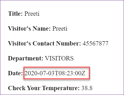 flow email shows wrong time for datetime SharePoint list